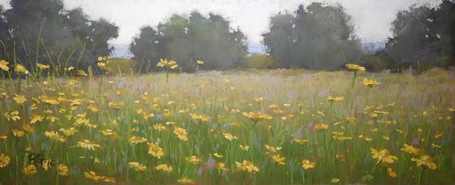 pastel Landscape Last Moment
