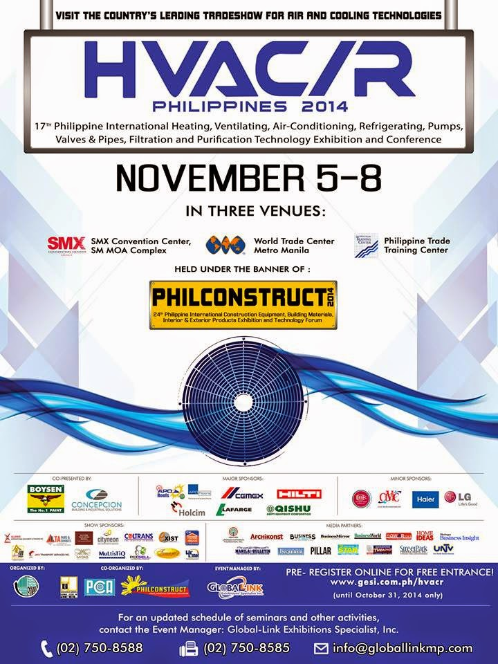 HVAC/R Philippines Expo Kicks Off this November