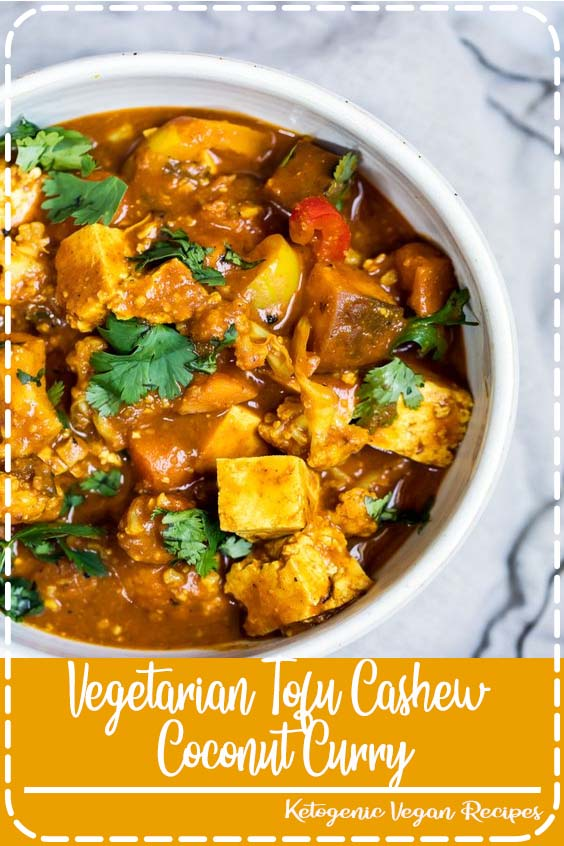 ginger and simmer in vegetarian coconut milk based curry dish in partnership with Nasoya  Vegetarian Tofu Cashew Coconut Curry