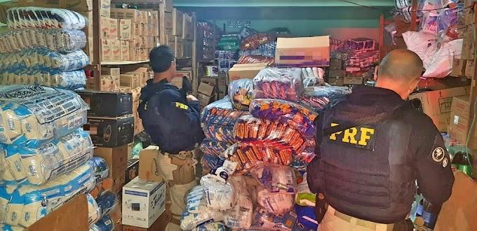 DO G1: PRF localiza depósito de bebidas e alimentos roubados em Casinhas-PE