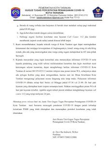 Press Release COVID-19 Tarakan 28 Juni 2020 - Tarakan Info