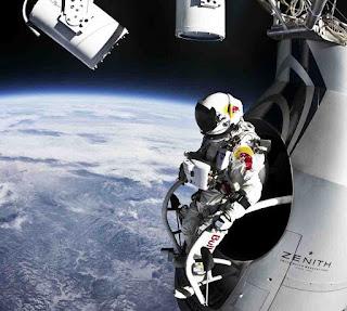 salto de paraquedas da estratosfera