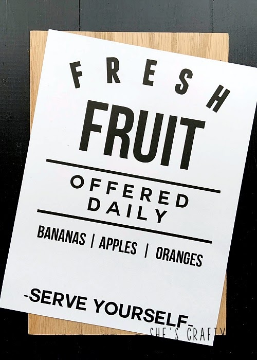 free printable Fresh Fruit Printable for Summer- how to apply to wood to make a sign