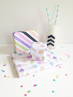 printable icecream wrapping paper