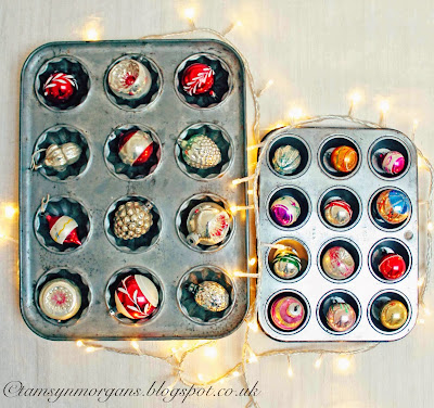 Baking Tins and Vintage Baubles