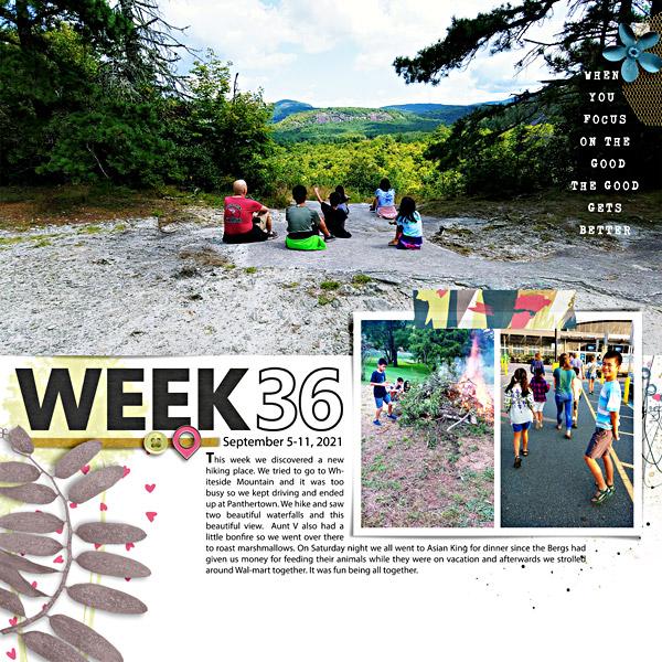 Week 36: Digital Scrapbook Page