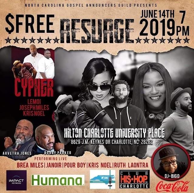 Events] RESUAGE (North Carolina Gospel Announcers Guild)