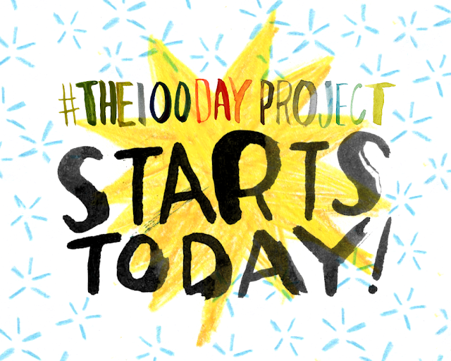 The 100-day project | Creative Challenge | Be inspired and #createmore