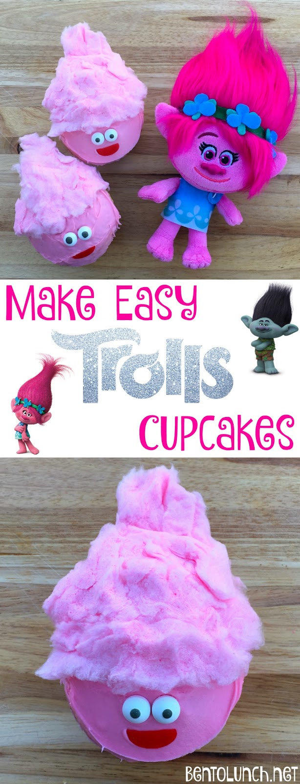 DreamWorks TROLLS: Make Easy Troll Cupcakes!
