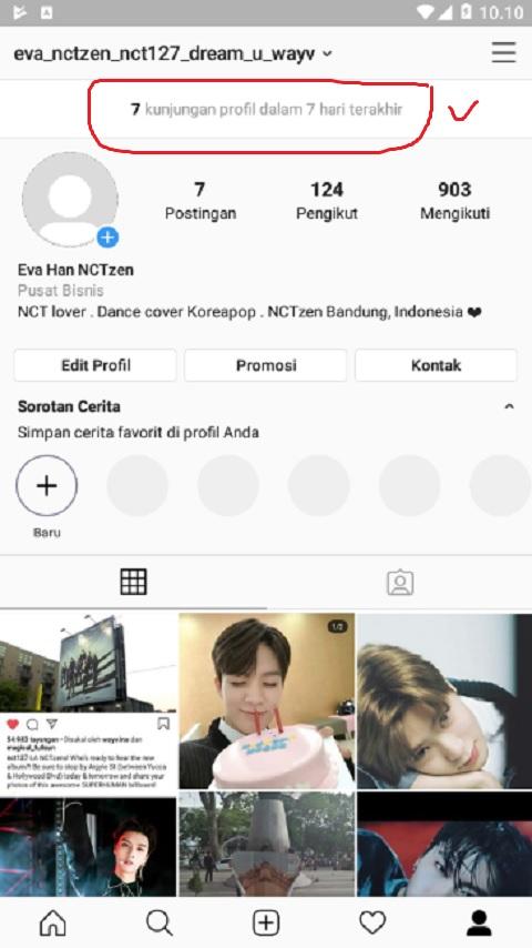 Melihat Kunjungan Profil di Instagram