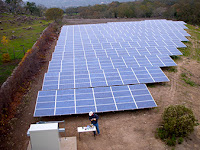 A SolarCity installation for Meteor Vineyard in Napa, Calif., features more efficient U.S.-made solar panels and a streamlined assembly process. (Photo Credit: Steve Jurvetson, courtesy of Flickr) Click to Enlarge.