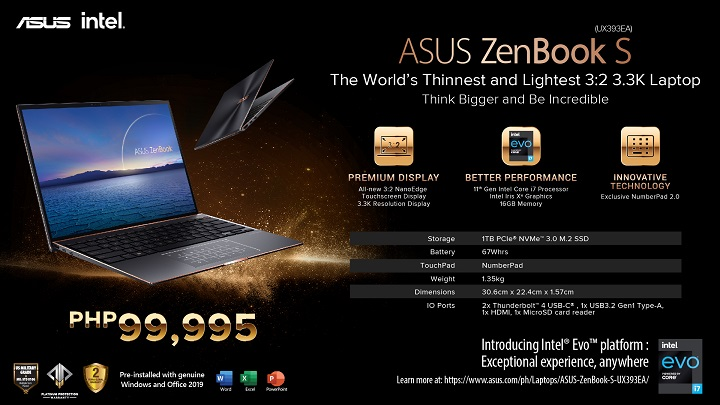 ASUS ZenBook S with 11th Gen Intel