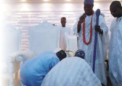 Olusegun+Obasanjo and Ooni Ife