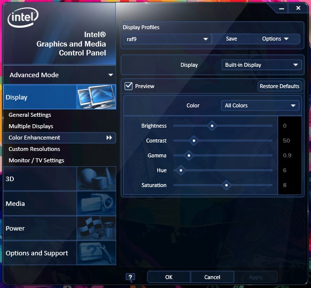 setting kalibrasi layar windows intel hd thinkpad x220