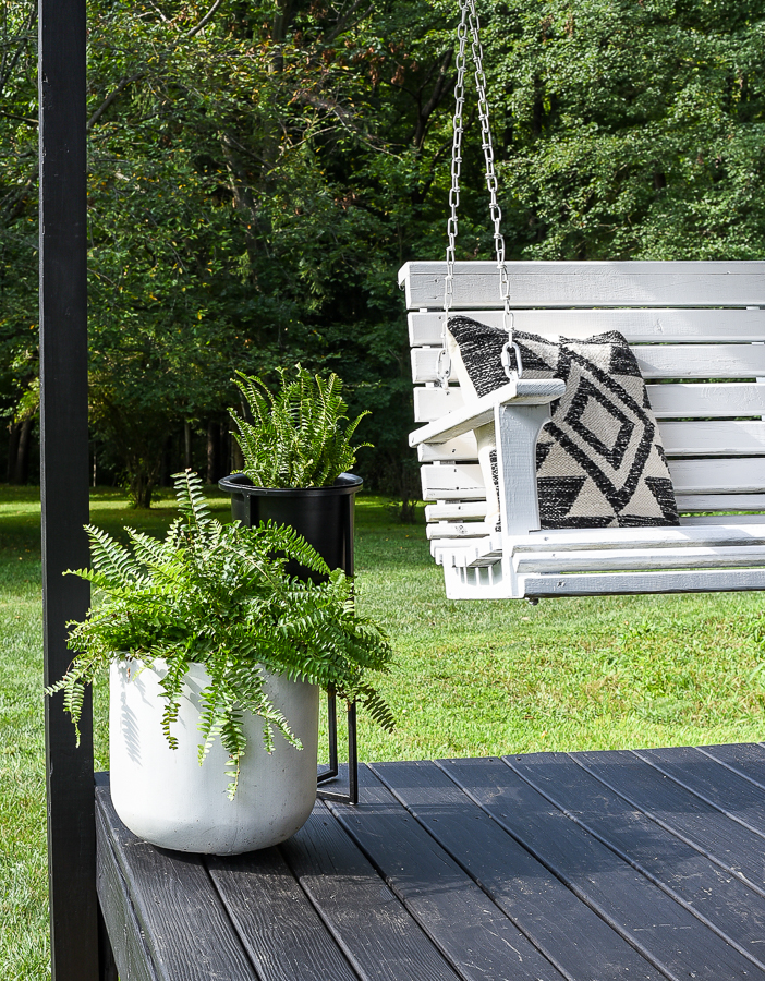 Modern deck decor and swing