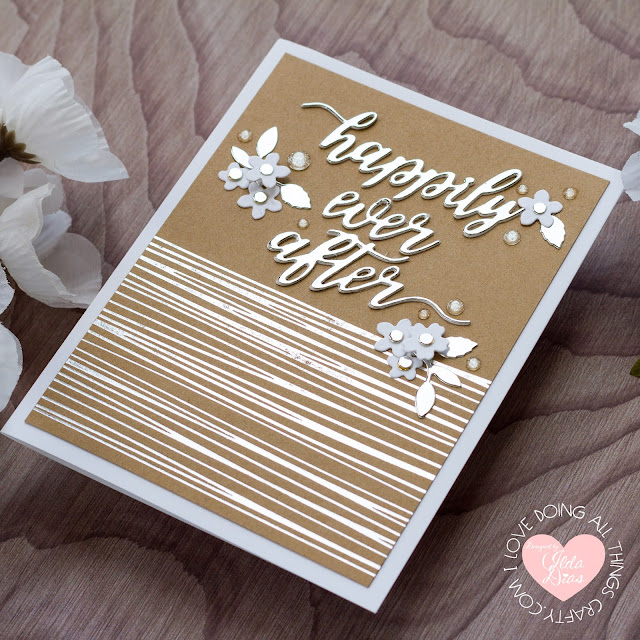 card making, Die cutting, Elegant, Foiled, glimmer foil, gold, handmade card, how to, ilovedoingallthingscrafty, Nichol Spohr, silver, Spellbinders, Stamps, Wedding Cards, Wedding Season Dies,