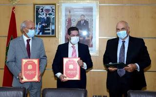 توقيع اتفاقية إطار بين وزارة التعليم والمكتب الشريف للفوسفاط لتشجيع الرقمنة في مجال التعليم العالي