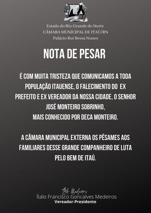 📌Nota de Pesar