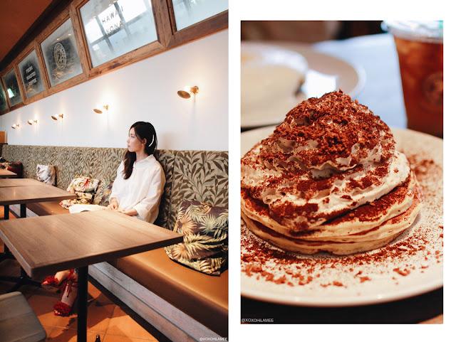 ホノルルコーヒー/コナコーヒークリームパンケーキ、プランテーションアイスティー カフェ ティータイム