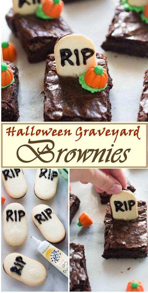 Halloween Graveyard Brownies #halloweenrecipes