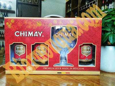 Hộp quà bia Chimay đỏ Bỉ nhập khẩu