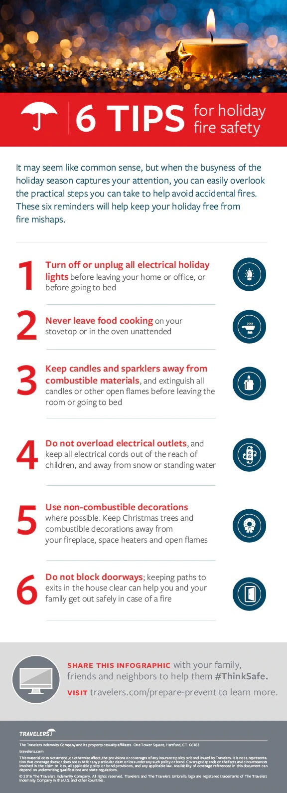 6 Tips For Holiday Fire Safety #infographic