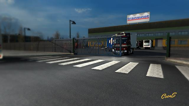 ets 2 animated gates in companies v3.0 screenshots 2