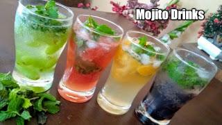The real mojito, Fresh fruit mojito, Mint mojito