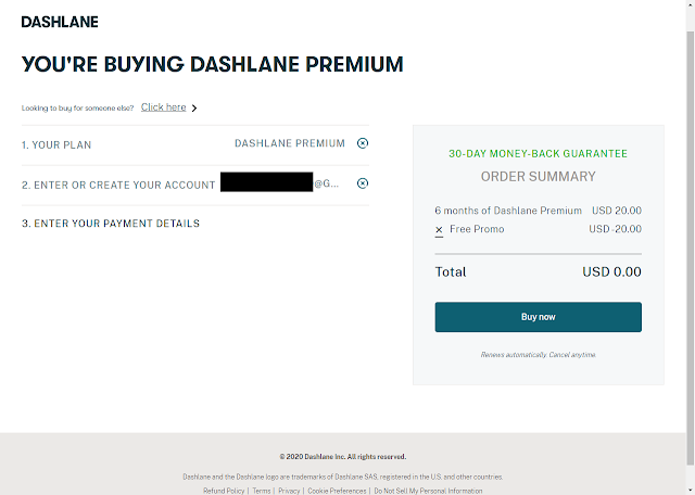 DASHLANE Password Manager Free for 6 months