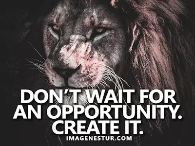 Motivational Quotes Don't wait for an opportunity. Create it.