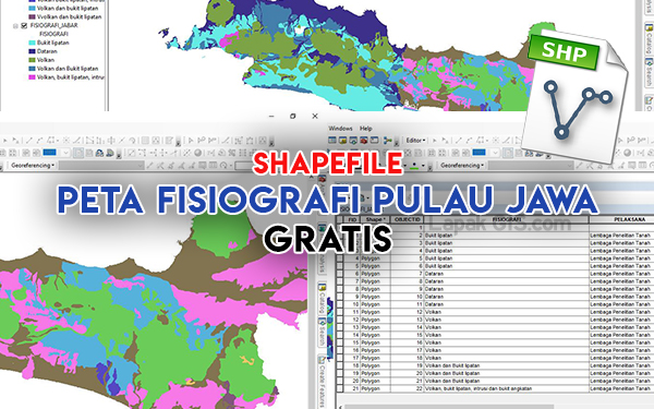 Shapefile Peta Fisiografi Pulau Jawa - SHP Gratis