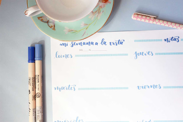 Descargable: nueva plantilla de bullet journal con lettering