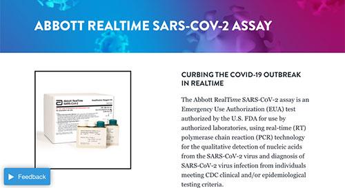 Real Time SARS-CoV-2 Assay Kit (Source: www.abbott.com)