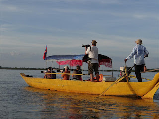 Dolphin-spotting on the Mekong