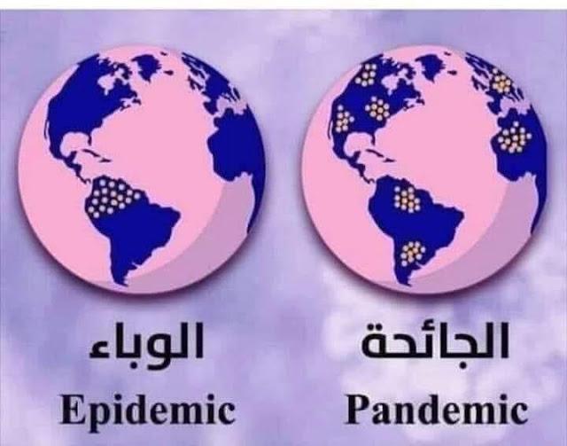 الفرق بين جانحة ووباء