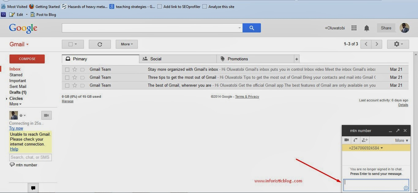 How to send my picture to my gmail