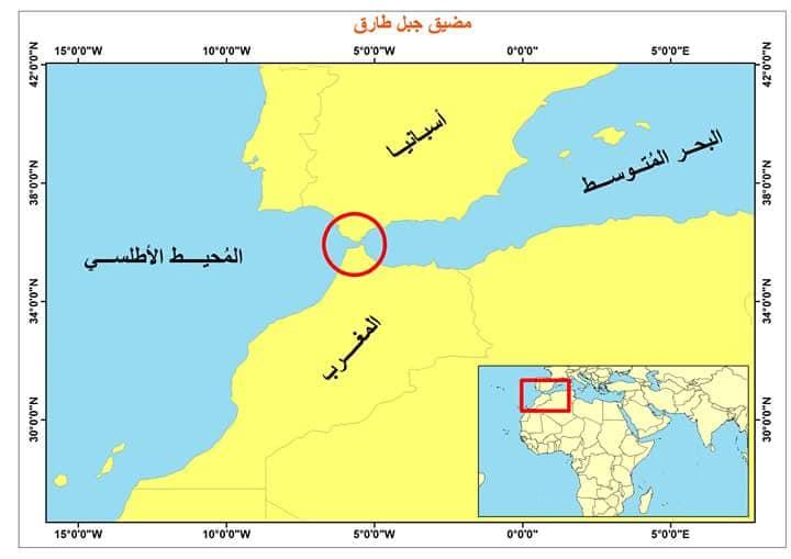 خريطة مضيق جبل طارق