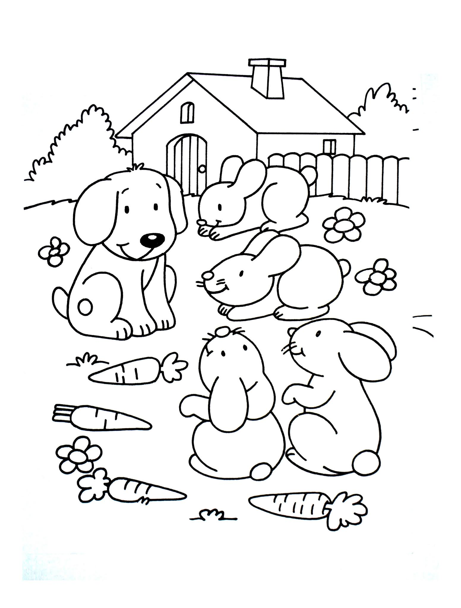 Dogs coloring pages 64