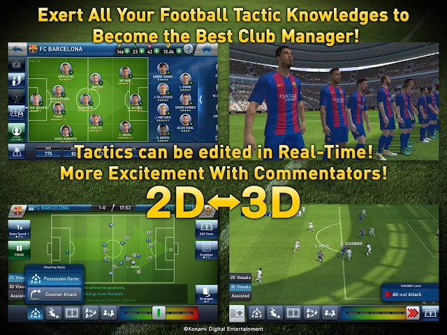 Screenshot download PES Club Manager game Android