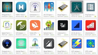 Aplikasi penguat sinyal android