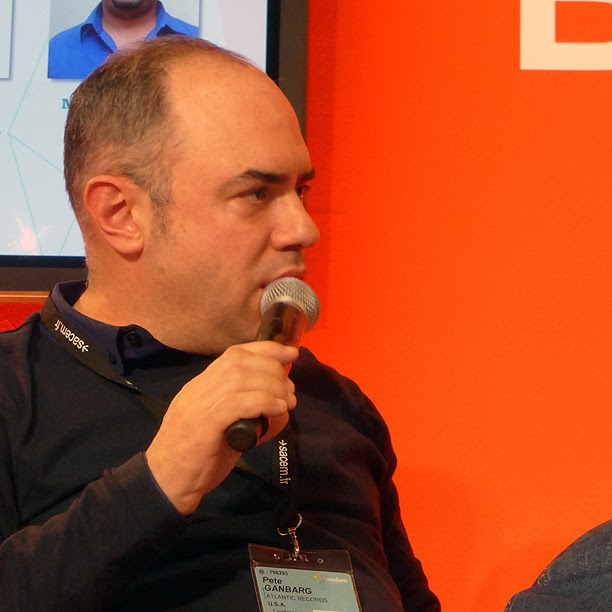Midem 2014 : Pete Ganbarg (Atlantic Records) / photo S. Mazars