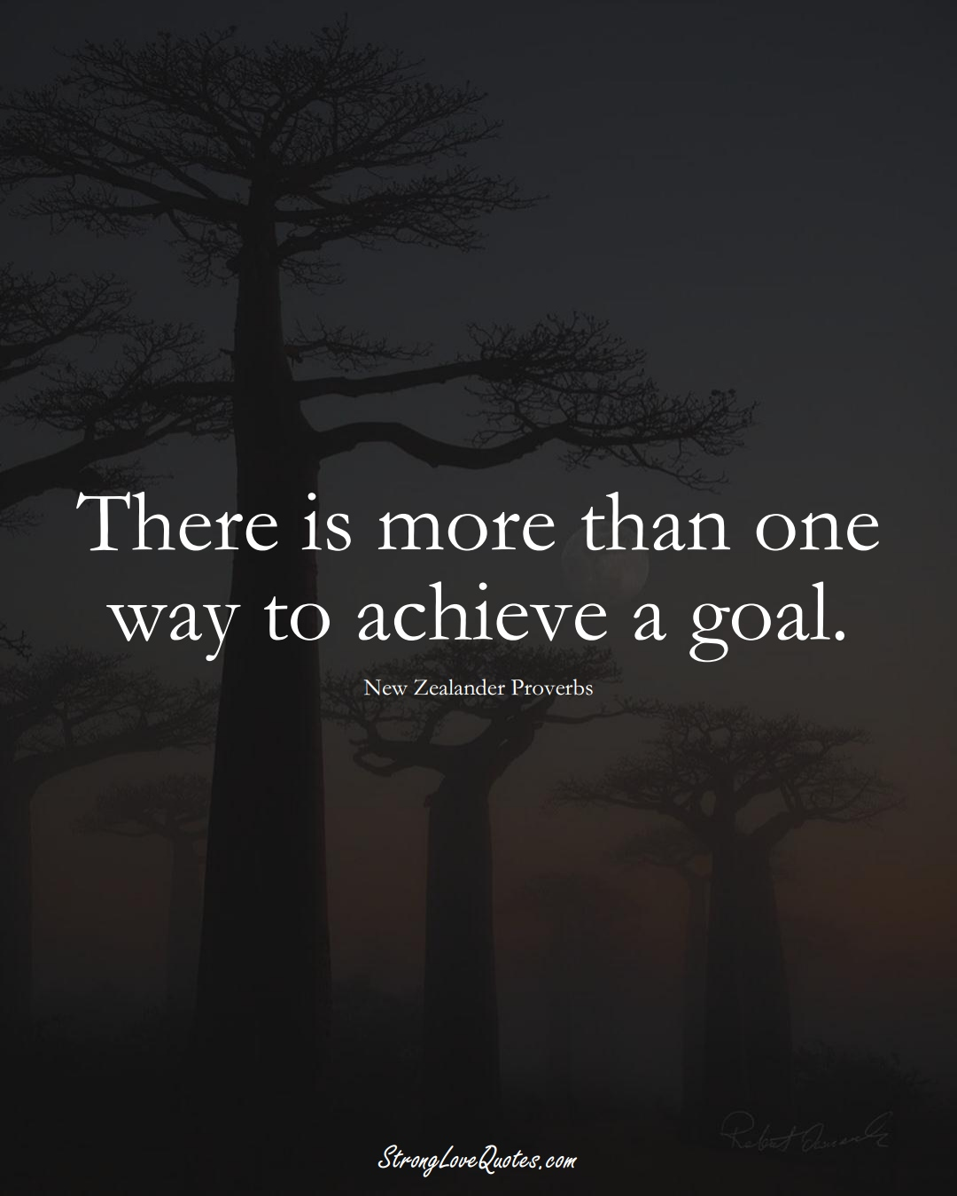 There is more than one way to achieve a goal. (New Zealander Sayings);  #AustralianSayings