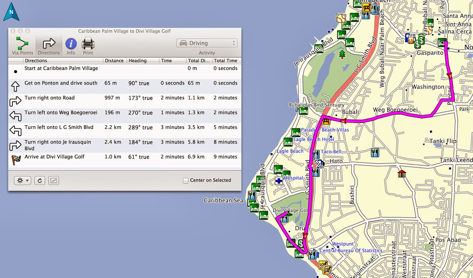 driving map of aruba Aruba Gps Map Wonderful Product Gpstravelmaps Com driving map of aruba