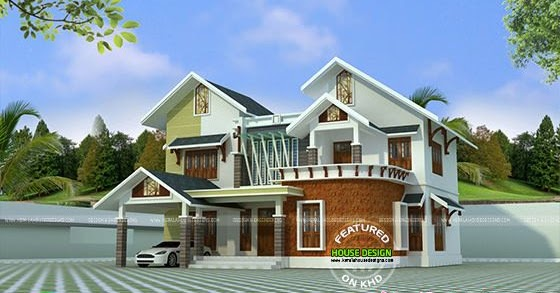 Modern mix roof house design in 2400 sq-ft - Kerala home ...