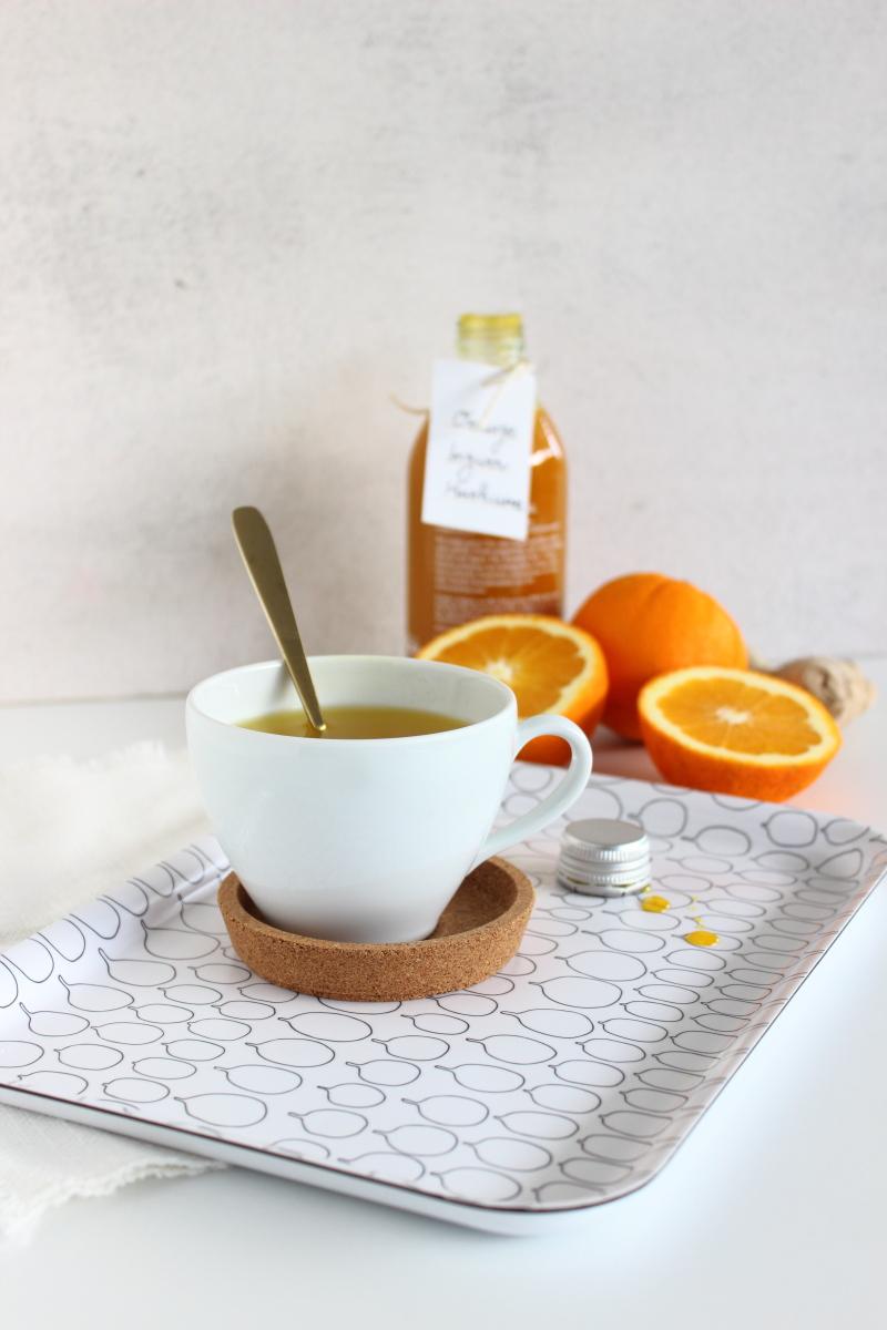 Golden Tea... Orangen Ingwer Kurkuma Tee Sirup... ein gesundes, vitaminreiches, verdauungsförderndes leckeres Geschenk aus der Küche, Rezept auf dem Food- und Lifestyleblog kebo homing