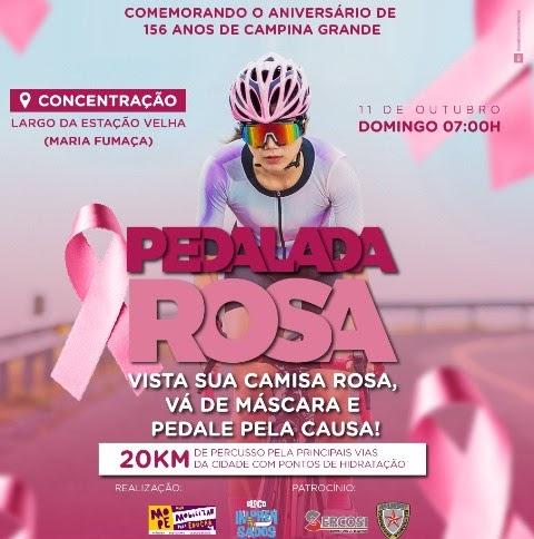 Definido percurso da III Pedalada Rosa que acontecerá domingo, no  aniversário de Campina Grande - Blog da Simone Duarte
