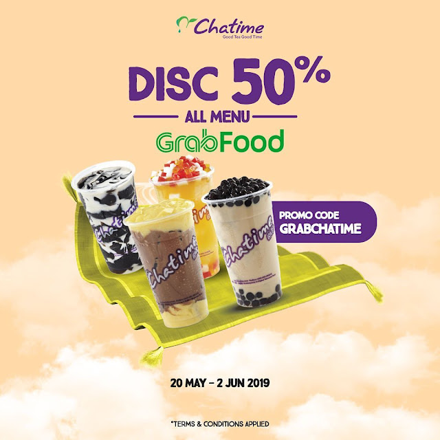 #Chatime - #Promo Diskon 50% All Menu Pakai GrabFood (s.d 2 Juni 2019)