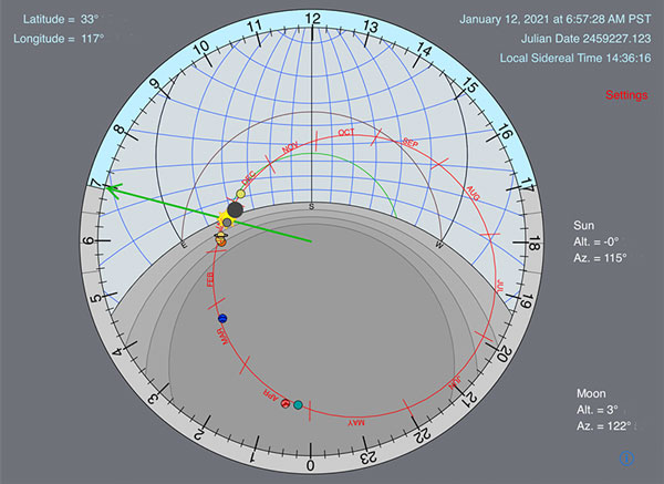 Astrolabe Clock for iPad (Source: TwoNineEight Software)