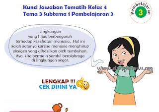 Kunci Jawaban Tematik SD MI Kelas 4 Tema 3 Subtema 1 Pembelajaran 3 www.simplenews.me