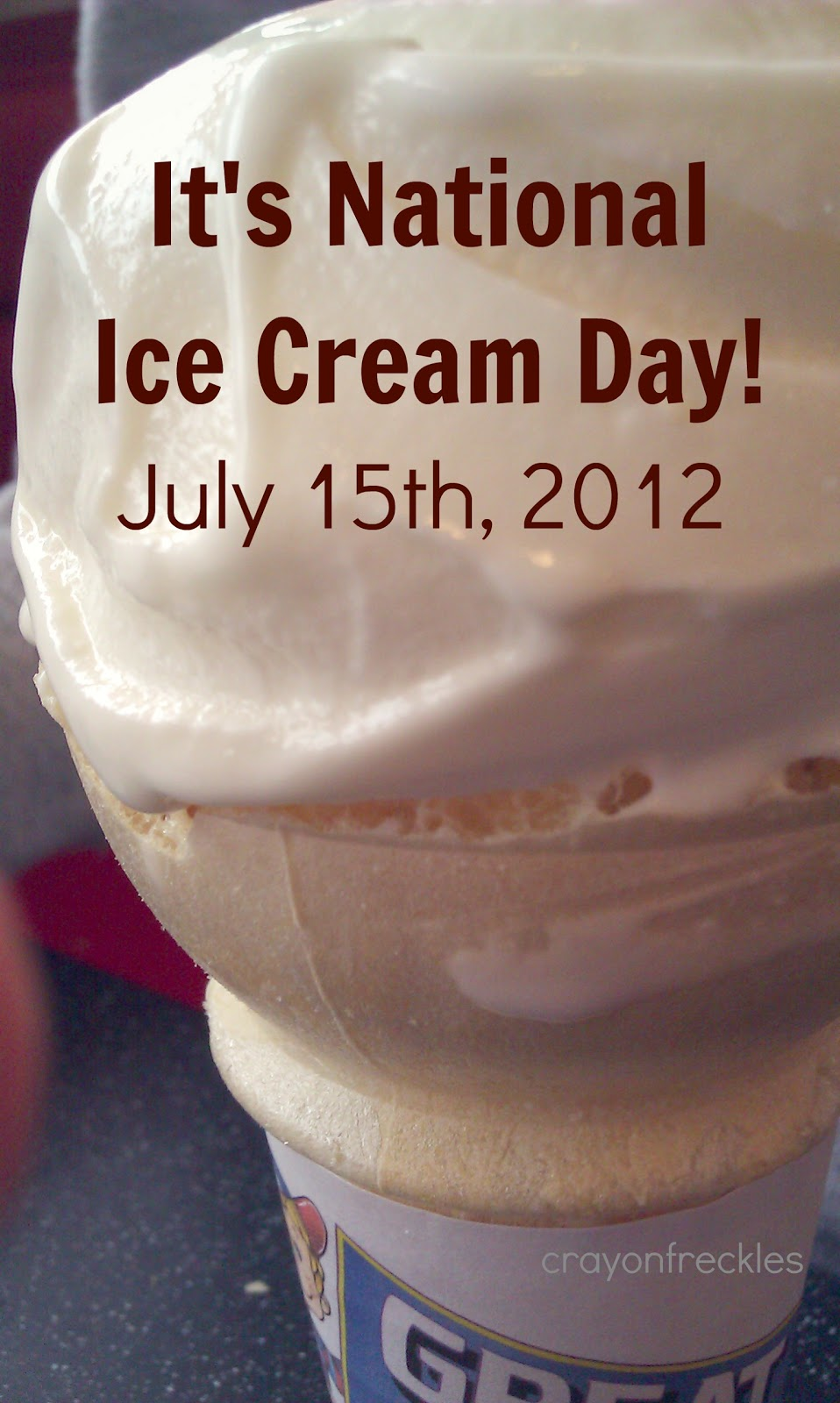 Crayon Freckles: it's National Ice Cream Day
